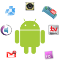 Android Andy met Apps galore