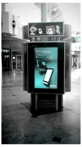 Nokia reclame in winkelcentrum